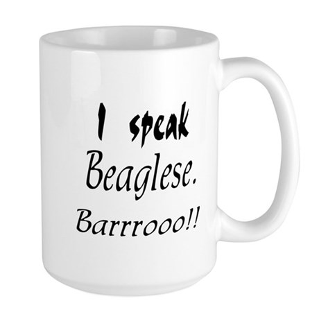 Funny Beagle Bark Large Mug