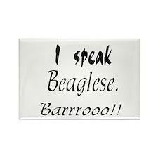 Funny Beagle Bark Rectangle Magnet