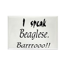 Funny Beagle Bark Rectangle Magnet (10 pack)