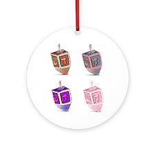 Hanukkah Dreidels Ornament (Round)