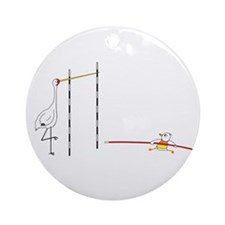 Pole Vault Ornament (Round)