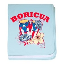 Puerto Rican Congas baby blanket