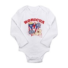 Puerto Rican Congas Long Sleeve Infant Bodysuit
