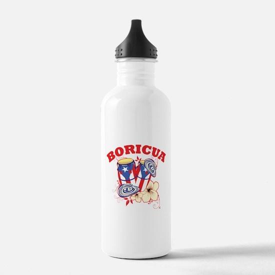 Puerto Rican Congas Water Bottle