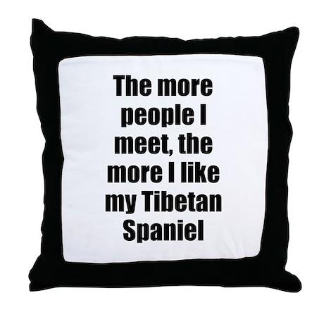 Tibetan Spaniel Throw Pillow