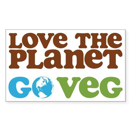 Love the Planet Go Veg Sticker