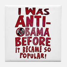 Anti-Obama Popular Tile Coaster
