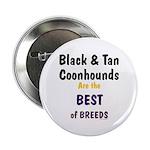 Black & Tan Coonhound Best Breed Button