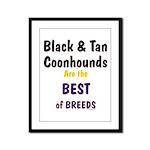 Black & Tan Coonhound Best Breed Framed Panel Prin