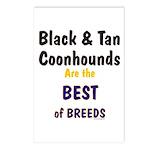 Black & Tan Coonhound Best Breed Postcards (Packag