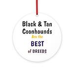 Black & Tan Coonhound Best Breed Ornament (Round)
