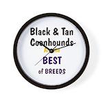 Black & Tan Coonhound Best Breed Wall Clock