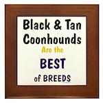 Black & Tan Coonhound Best Breed Framed Tile