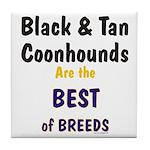Black & Tan Coonhound Best Breed Tile Coaster