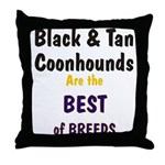 Black & Tan Coonhound Best Breed Throw Pillow