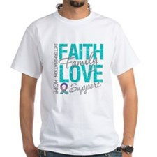 Thyroid Cancer Faith Family Shirt