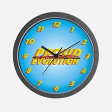 Evolution Cars Wall Clock