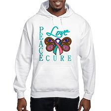 Thyroid Cancer PeaceLoveCure Hoodie