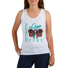 Thyroid Cancer PeaceLoveCure Women's Tank Top
