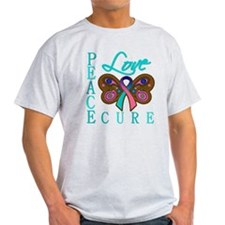 Thyroid Cancer PeaceLoveCure T-Shirt