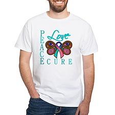 Thyroid Cancer PeaceLoveCure Shirt
