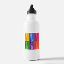 Spine Pop Art Water Bottle