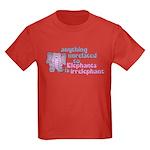 Irrelephant Elephant Kids Dark T-Shirt