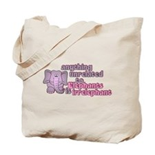 Irrelephant Elephant Tote Bag