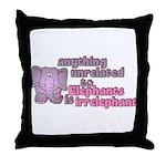 Irrelephant Elephant Throw Pillow