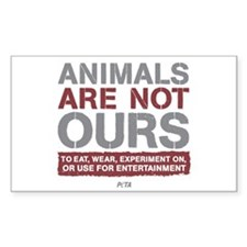 Animals Are Not Ours Stickers