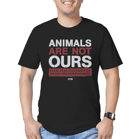 Animals Are Not Ours Men's Fitted T-Shirt (dark)