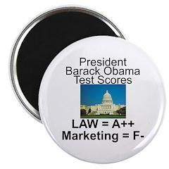 Obama's test scores 2.25
