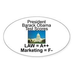 Obama's test scores Decal