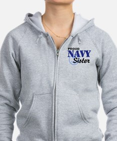 Proud Navy Sister Zip Hoody