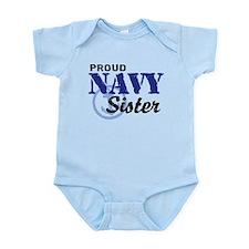 Proud Navy Sister Infant Bodysuit