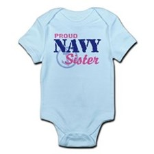 Proud Navy Sister Infant Bodysuit