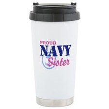 Proud Navy Sister Travel Mug