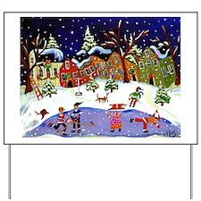 Folk Art Holiday Fun Yard Sign