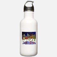 Folk Art Holiday Fun Water Bottle