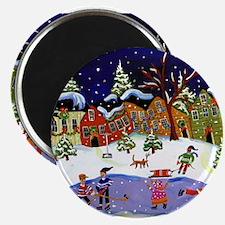 Folk Art Holiday Fun Magnet