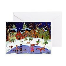 Folk Art Holiday Fun Greeting Cards (Pk of 10)