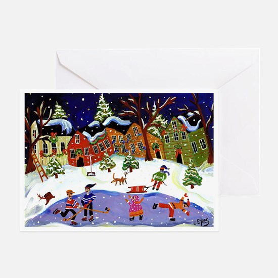 Folk Art Holiday Fun Greeting Card