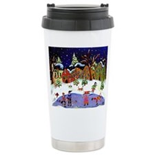 Folk Art Holiday Fun Travel Mug