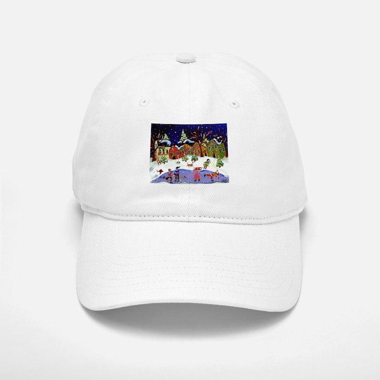 Folk Art Holiday Fun Baseball Baseball Cap