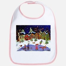 Folk Art Holiday Fun Bib