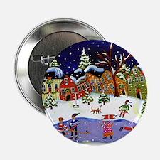 "Folk Art Holiday Fun 2.25"" Button"