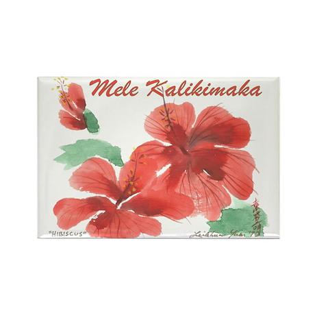 Hawaiian Hibiscus Rectangle Magnet