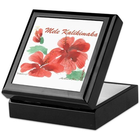 Hawaiian Hibiscus Keepsake Box