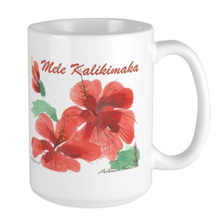 Hawaiian Hibiscus Large Mug