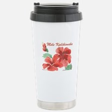 Hawaiian Hibiscus Stainless Steel Travel Mug